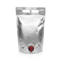 Wine Pouch 9.25 inch x 14.37 inch Silver