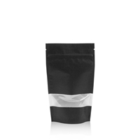 Lamizip Kraft Paper Stand Up Pouches with window 4.72 inch x 8.27 inch Black