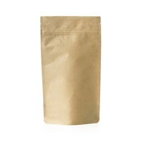 Compostable Lamizip Stand Up Pouches Kraft Paper 6.65 inch x 9.88 inch Brown