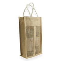 Jute Wine Carrier Bag 350 mm x 200 mm Brun