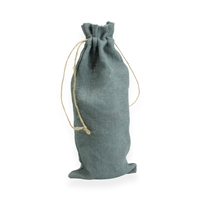 Jute Wine Carrier Bag 150 mm x 350 mm Grå