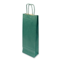Paper Wine bag 150 mm x 400 mm Green