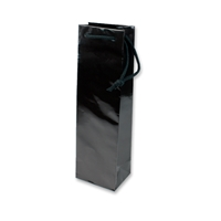 Paper Wine bag 120 mm x 400 mm Zwart