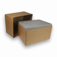 Cardboard Box for Mono Triple Box Brown