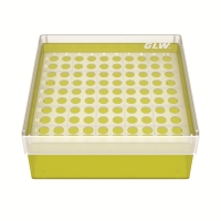 Storage box 100 tubes Yellow