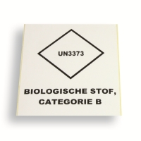 Label UN3373 White