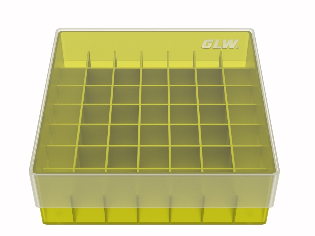 Storage box 49 tubes Yellow