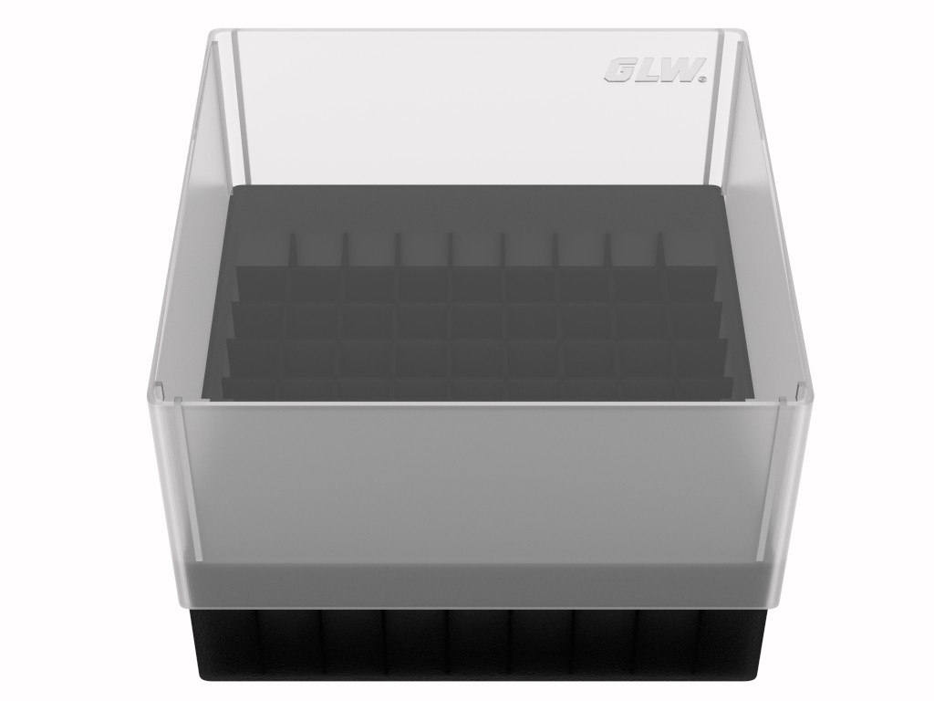 Storage box 81 tubes Black