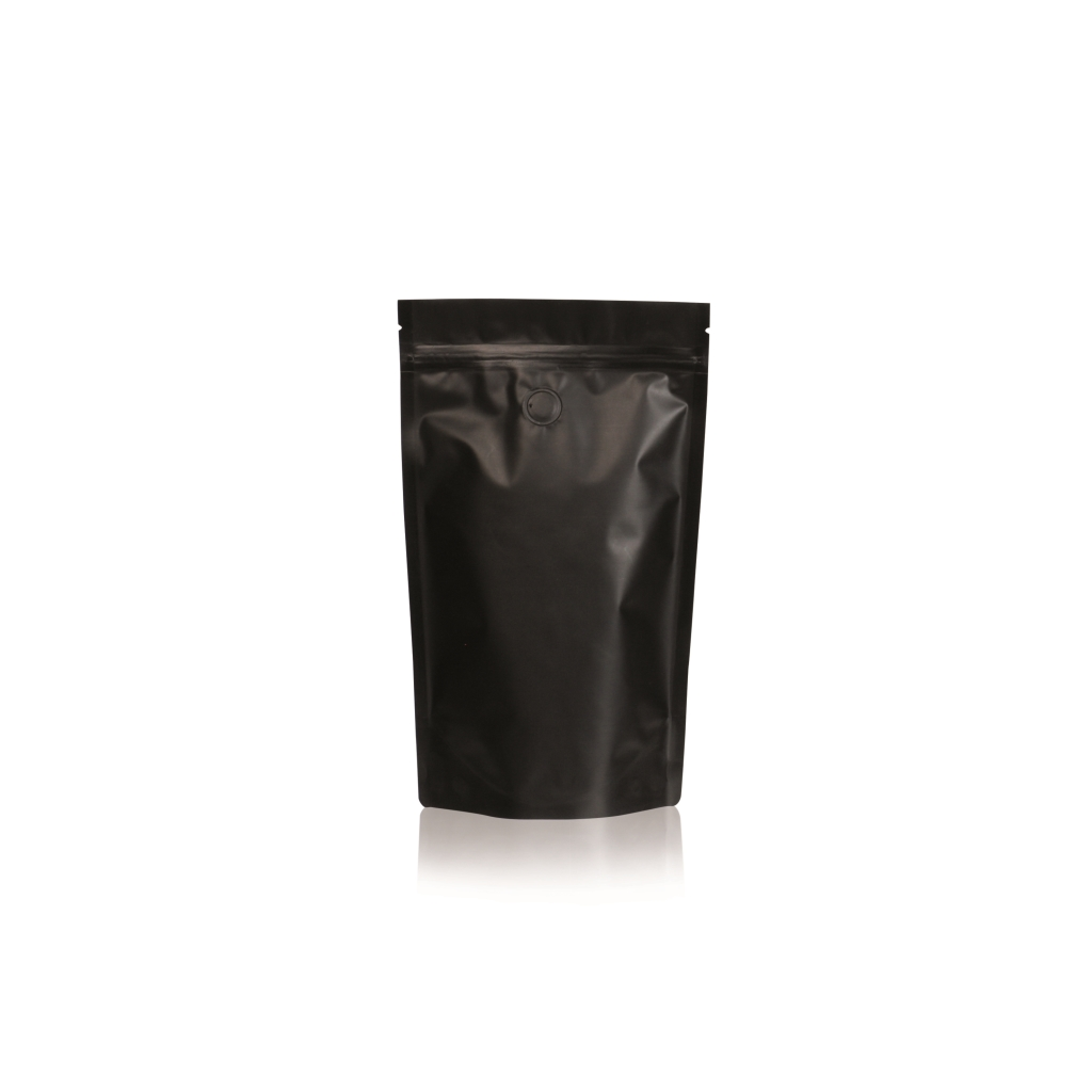 Lamizip Colour Stand Up Pouches 5.67 inch x 8.94 inch Black