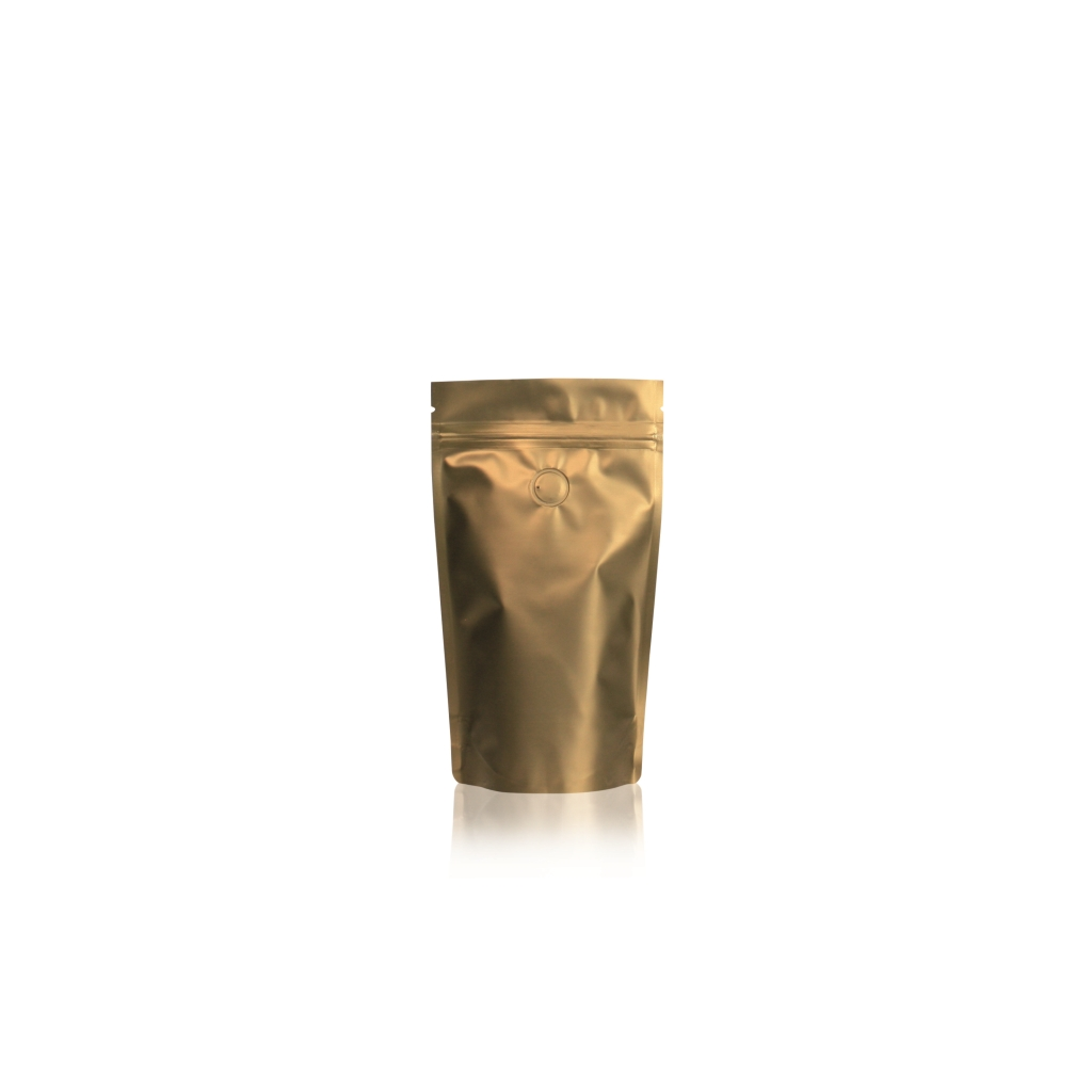 Lamizip Colour Stand Up Pouches 4.33 inch x 6.89 inch Gold