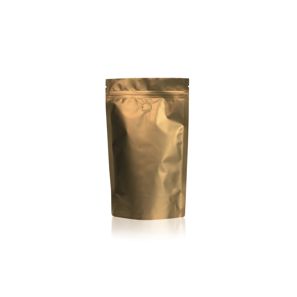 Lamizip Colour Stand Up Pouches 5.67 inch x 8.94 inch Gold