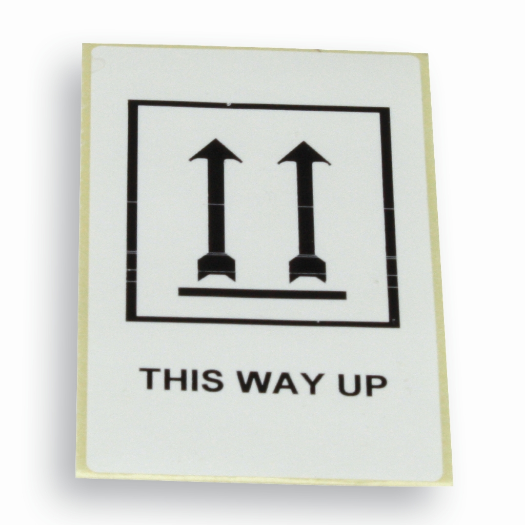 Etikett 'This way up' 60 mm x 100 mm Weiss