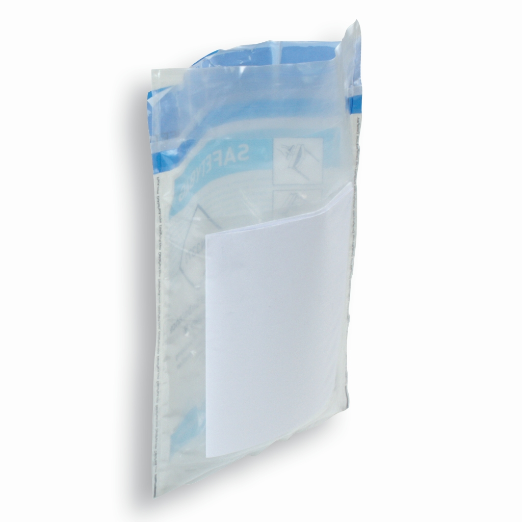 Safetybag met compartment 168 mm x 267 mm Transparent
