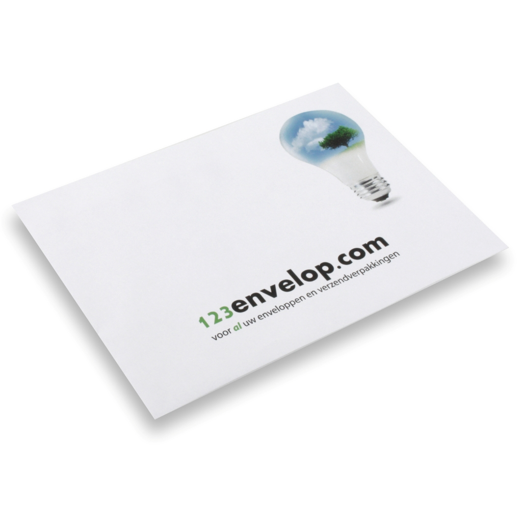 Printed Envelopes, 2 colors 110 mm x 220 mm White