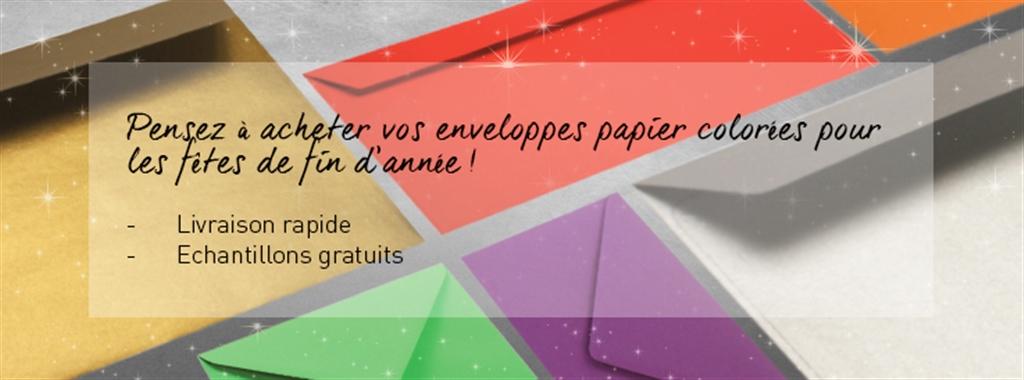 enveloppes papier colorees