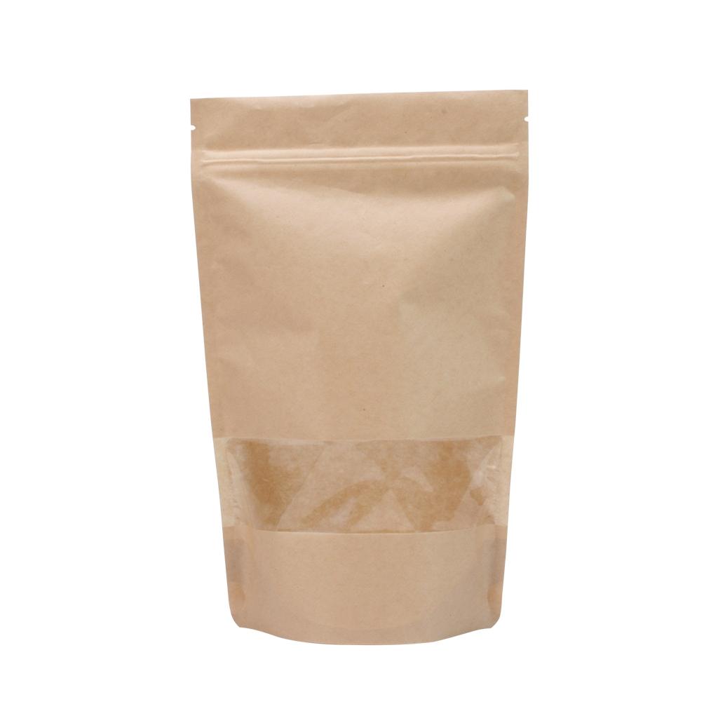 Doypack papier kraft fen tre 95 mm x 150 mm marron for Fenetre 85 x 130