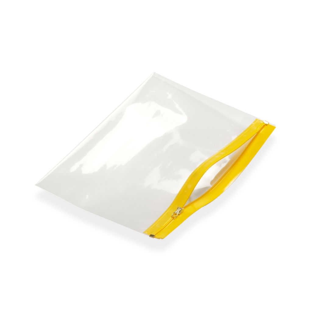 Re-closable wallets 405 mm x 250 mm Yellow
