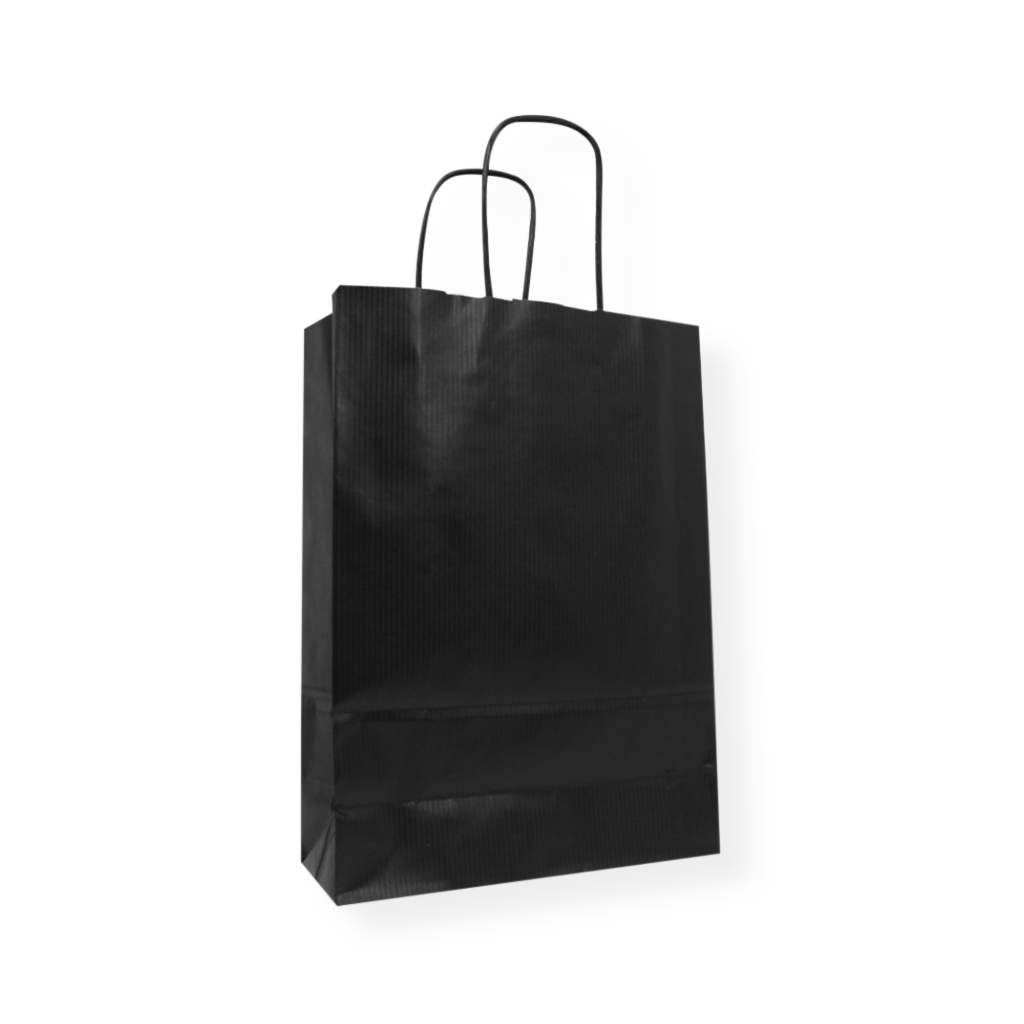 Paper Carrier bag 9.06 inch x 12.60 inch Black