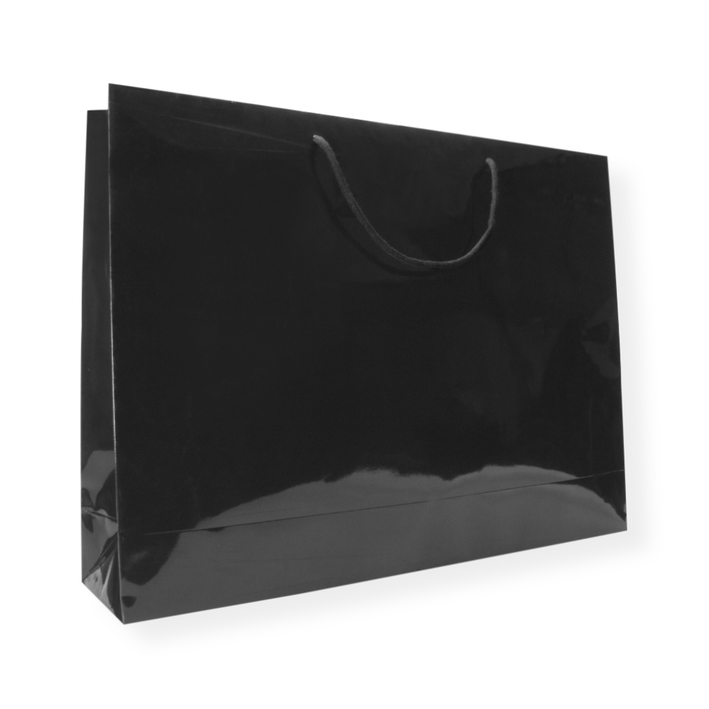 Glossybag 460 mm x 640 mm Sort