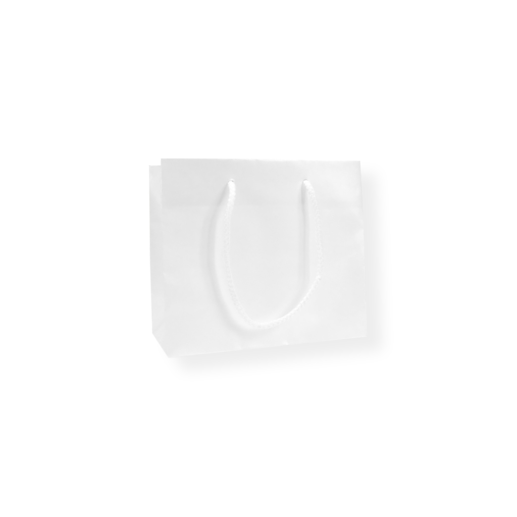 GlossyBag Pearl White 220 mm x 190 mm Hvid