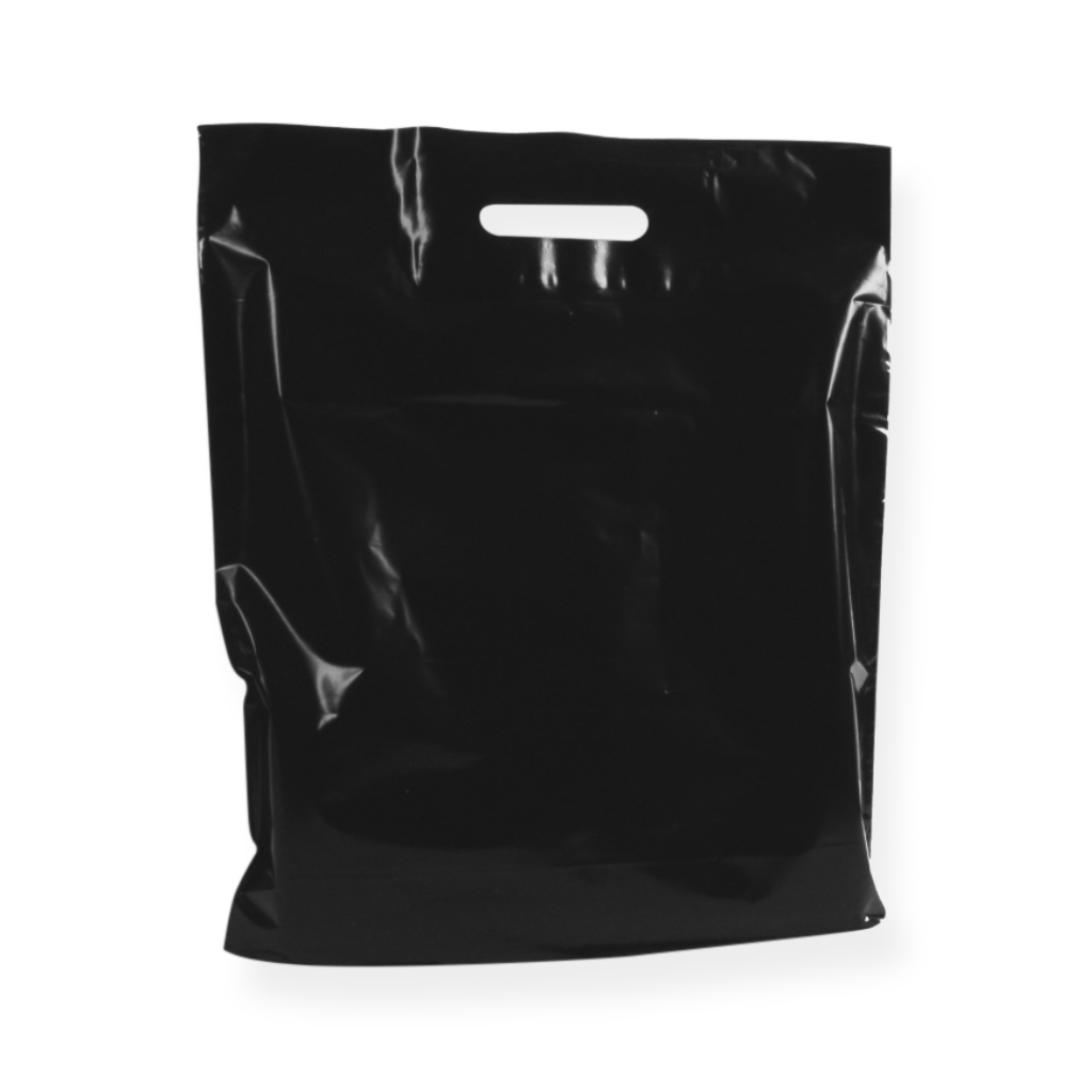 Baggie Carrier Bags 17.72 inch x 20.08 inch Black