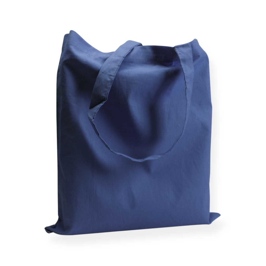 Cotton Carrier Bags 380 mm x 420 mm dark blue