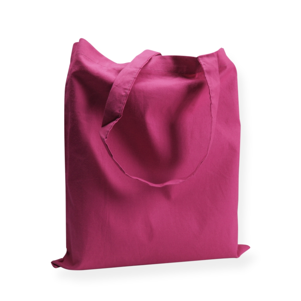 Cotton Carrier Bags 380 mm x 420 mm Pink