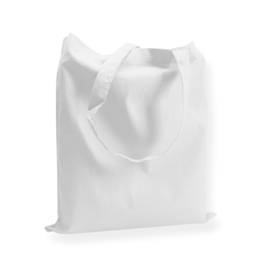 Cotton Carrier Bags 380 mm x 420 mm White