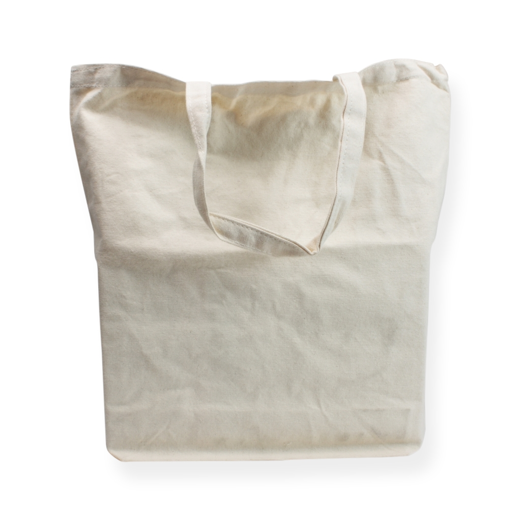Cotton Carrier Bags 410 mm x 420 mm White