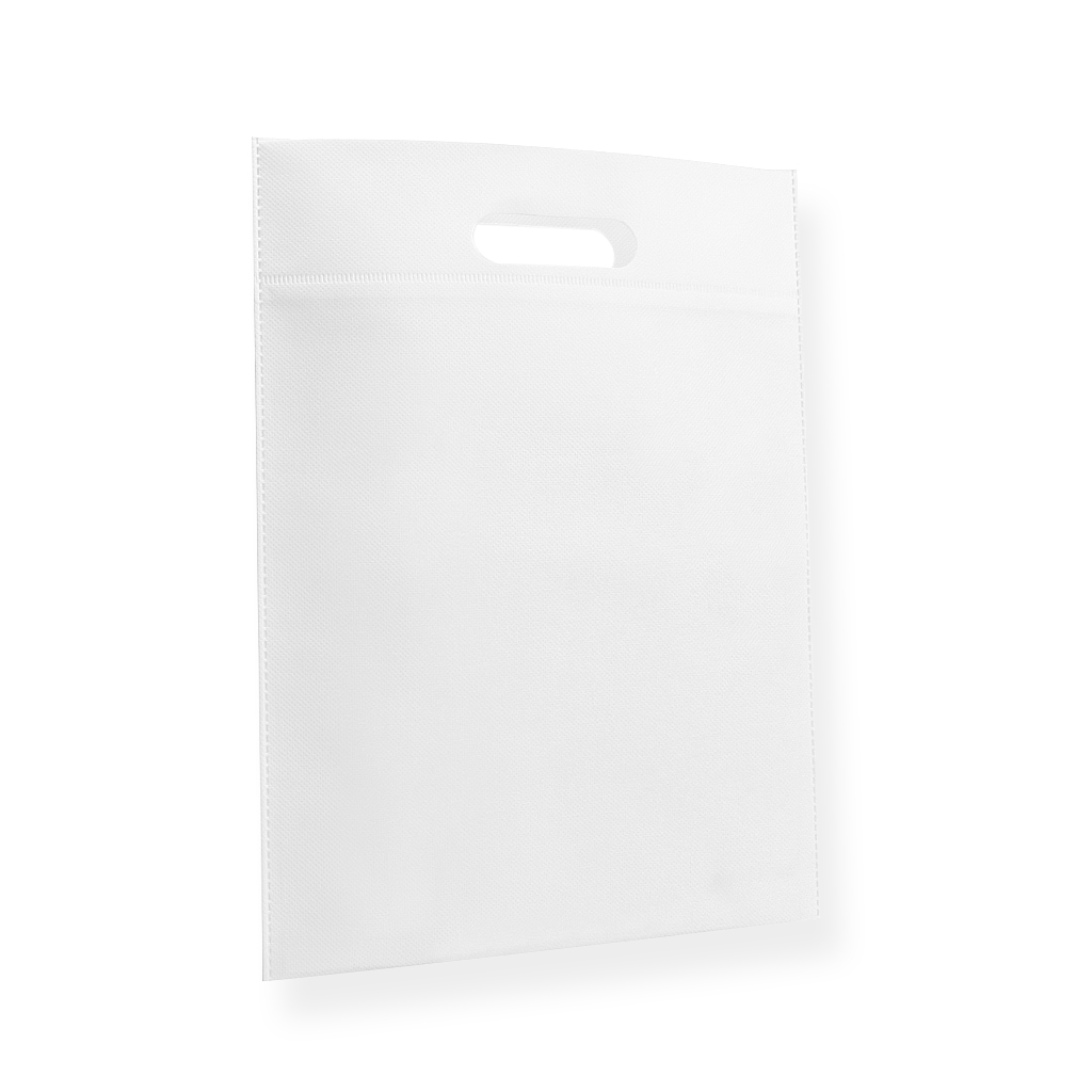 Non Woven Carrier Bags 300 mm x 400 mm White