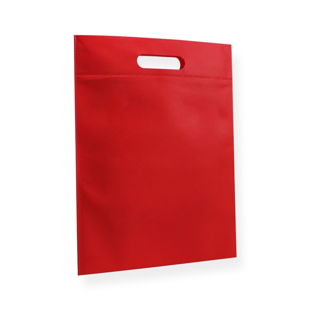 Non Woven Carrier Bags 300 mm x 400 mm Red
