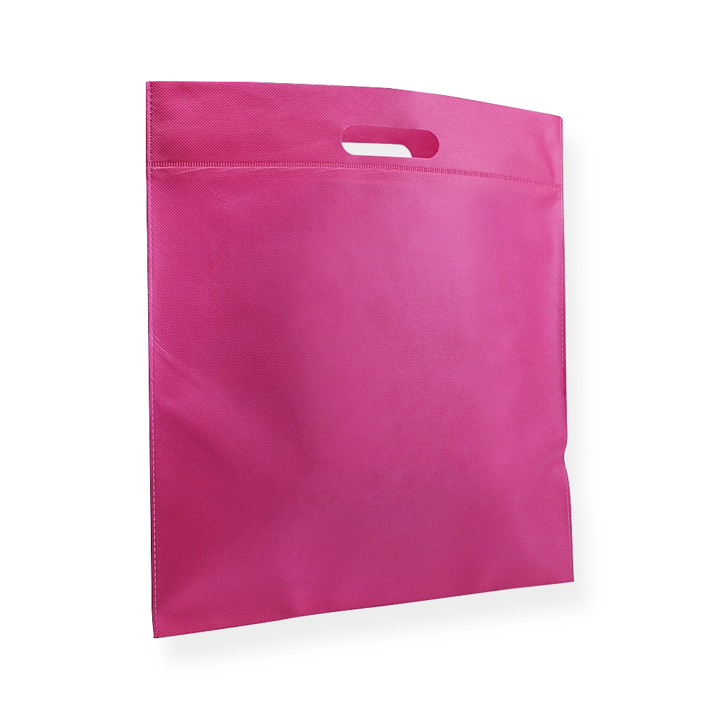 Non Woven Carrier Bags 400 mm x 450 mm Pink