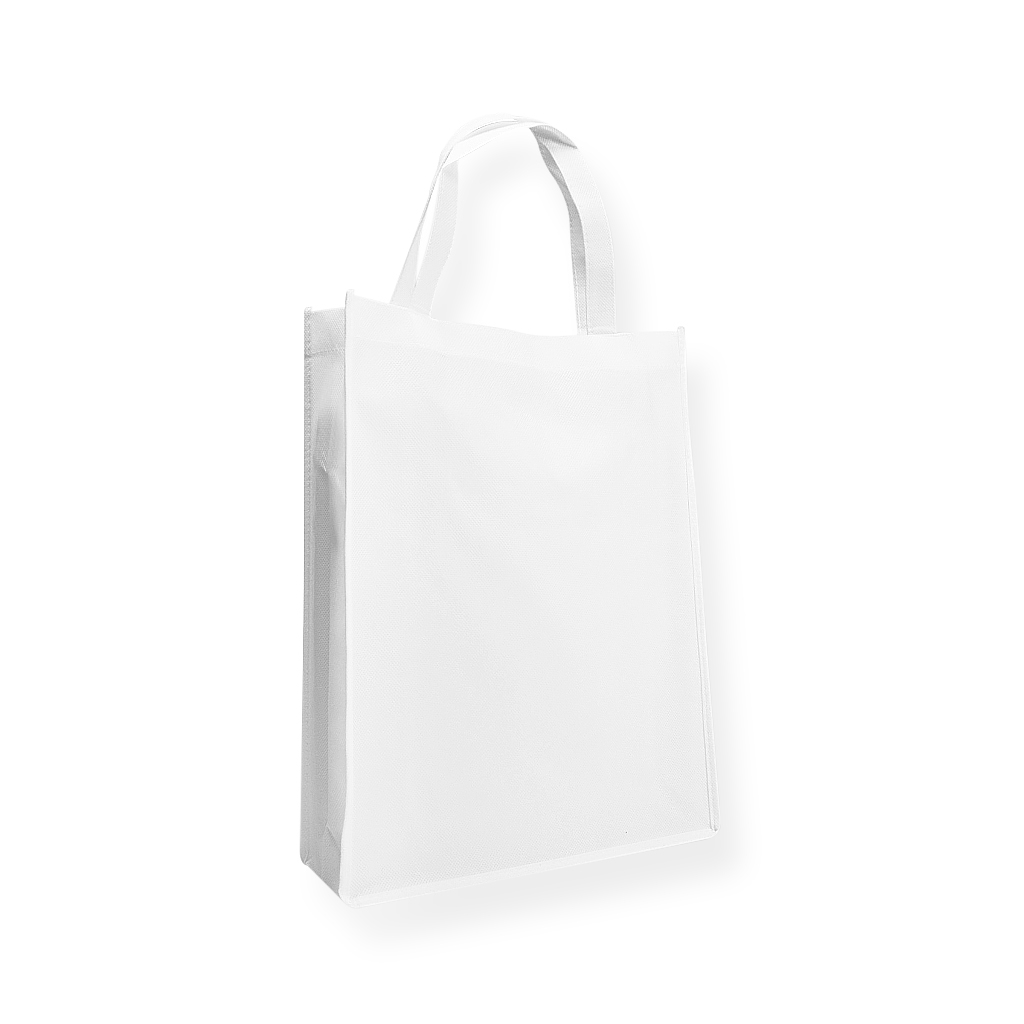 Non Woven Carrier Bags 310 mm x 410 mm White