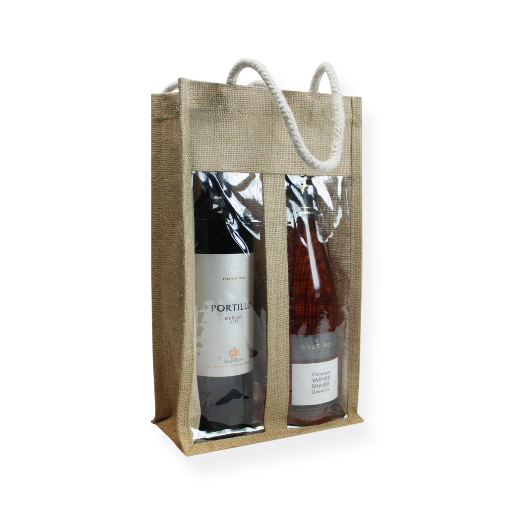 sacs pour bouteilles en jute 350 mm x 200 mm marron. Black Bedroom Furniture Sets. Home Design Ideas