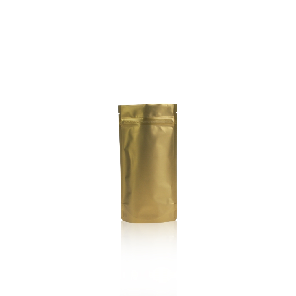 Lamizip Colour Stand Up Pouches 100 mm x 195 mm Gold