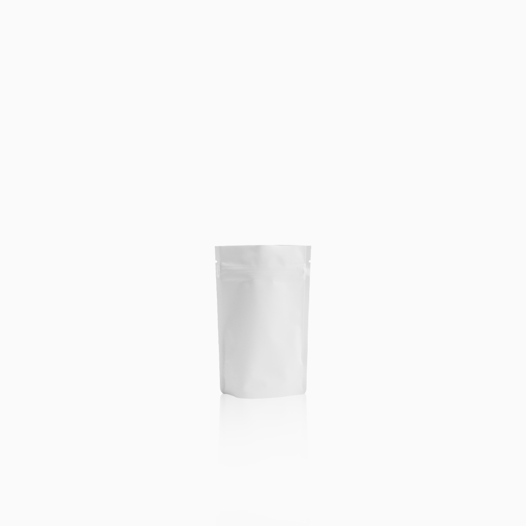 Lamizip Colour Stand Up Pouches 3.74 inch x 5.91 inch White