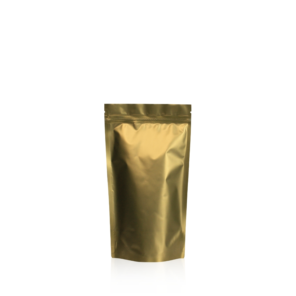Lamizip Colour Stand Up Pouches 3.94 inch x 7.68 inch Gold