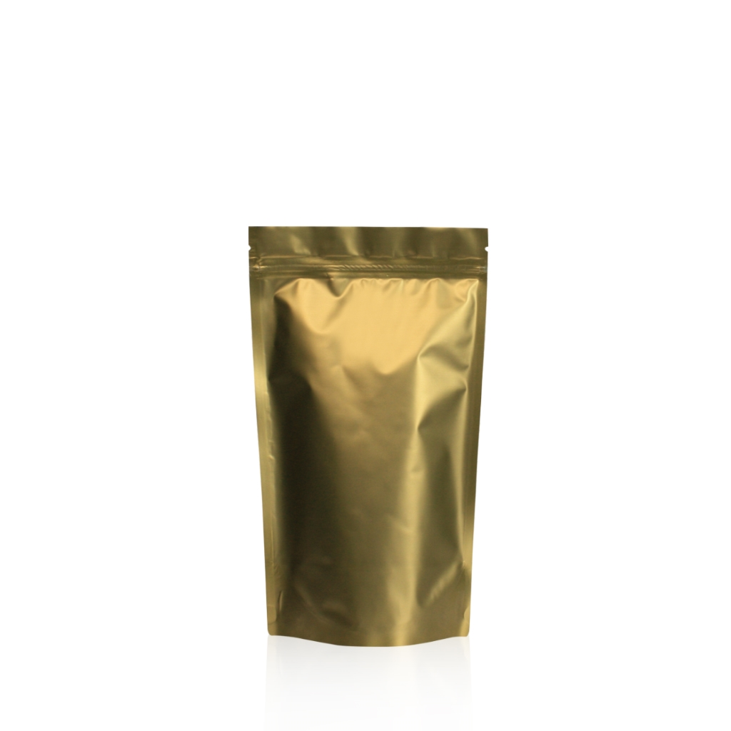Lamizip Colour Stand Up Pouches 120 mm x 210 mm Gold