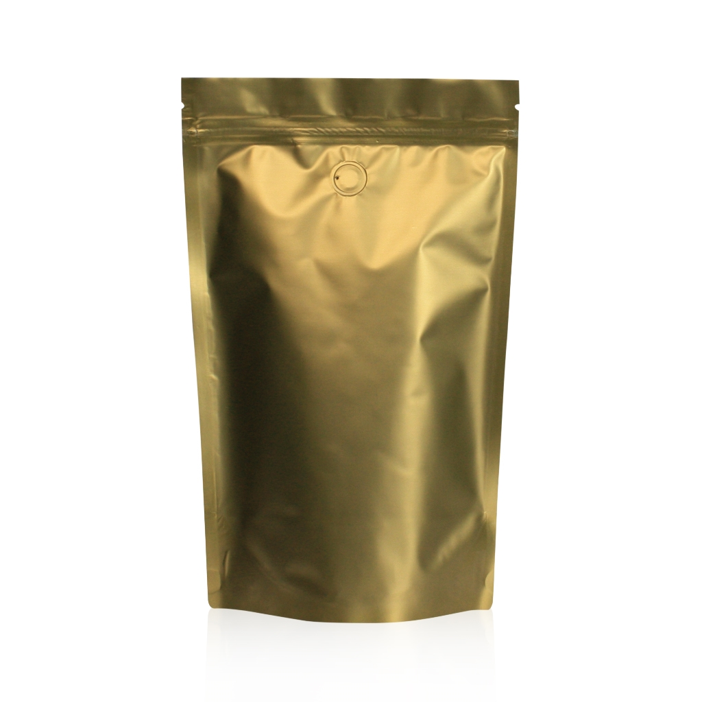 Lamizip Colour Stand Up Pouches 7.28 inch x 11.61 inch Gold