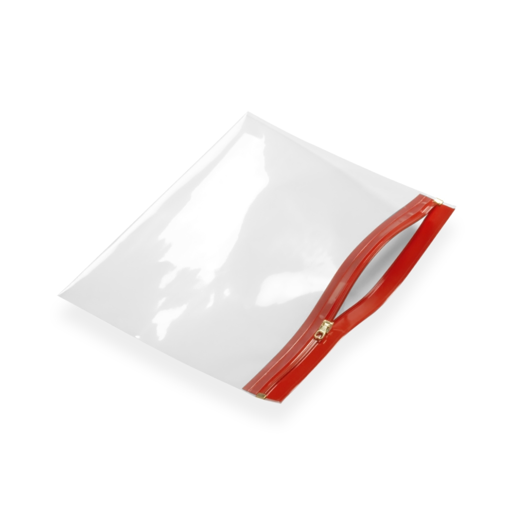Re-closable wallets 250 mm x 170 mm Red
