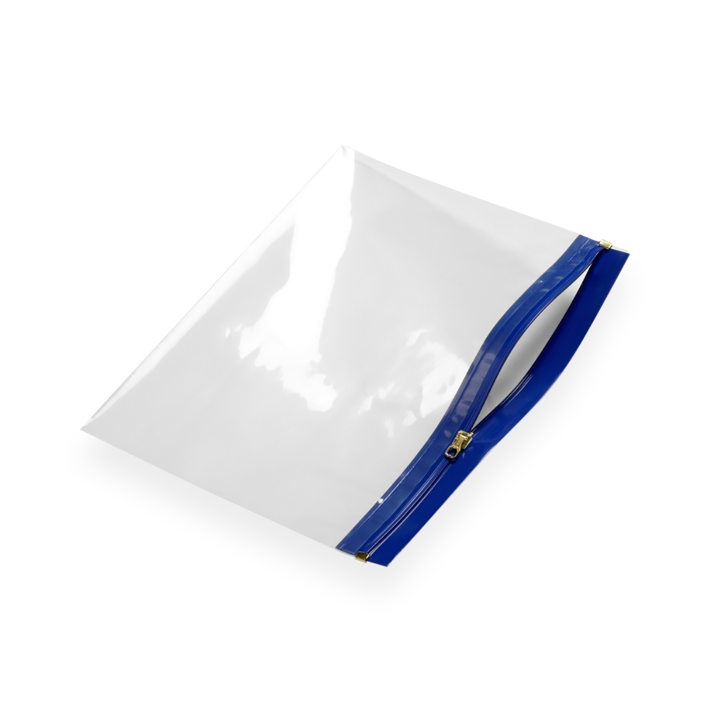 Re-closable wallets 250 mm x 170 mm Blue
