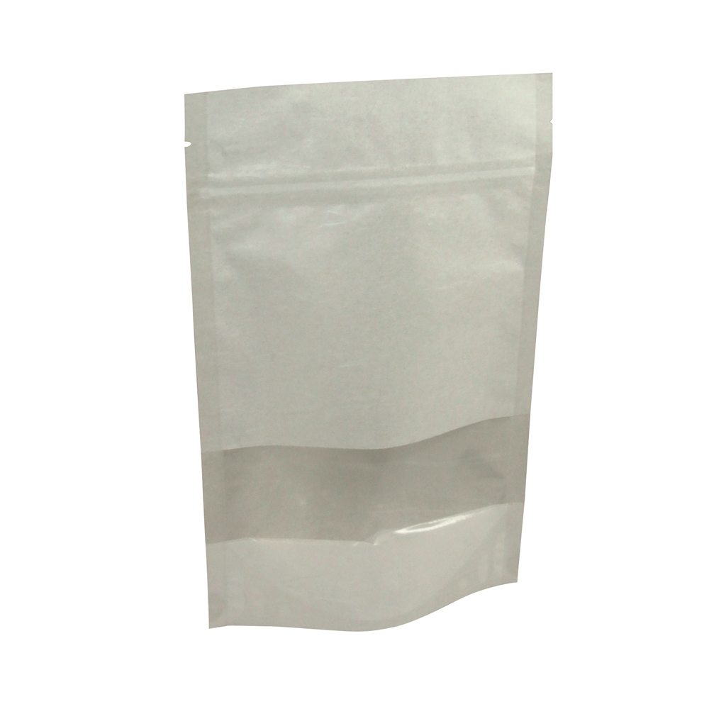 Lamizip Rice Paper Stand Up Pouches 150 mm x 225 mm White