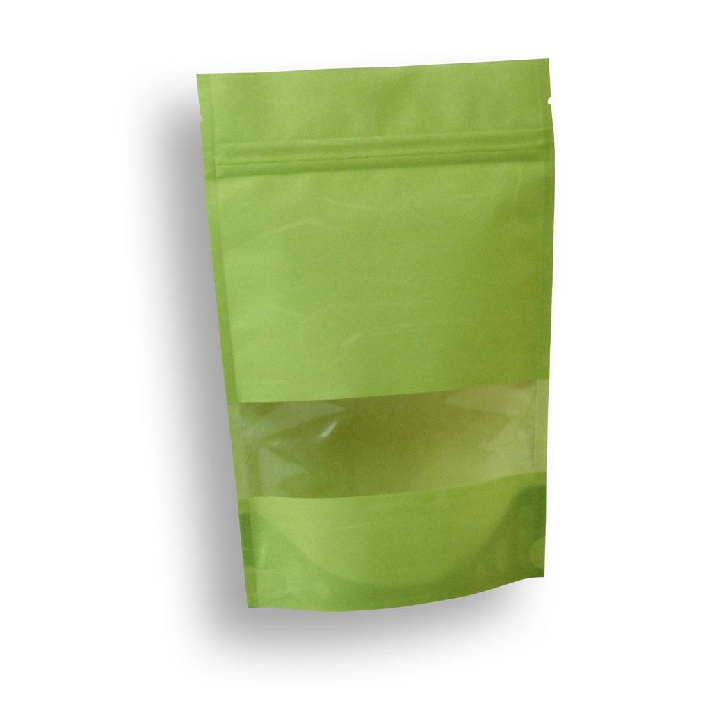 Lamizip Rice Paper Stand Up Pouches 150 mm x 225 mm Green