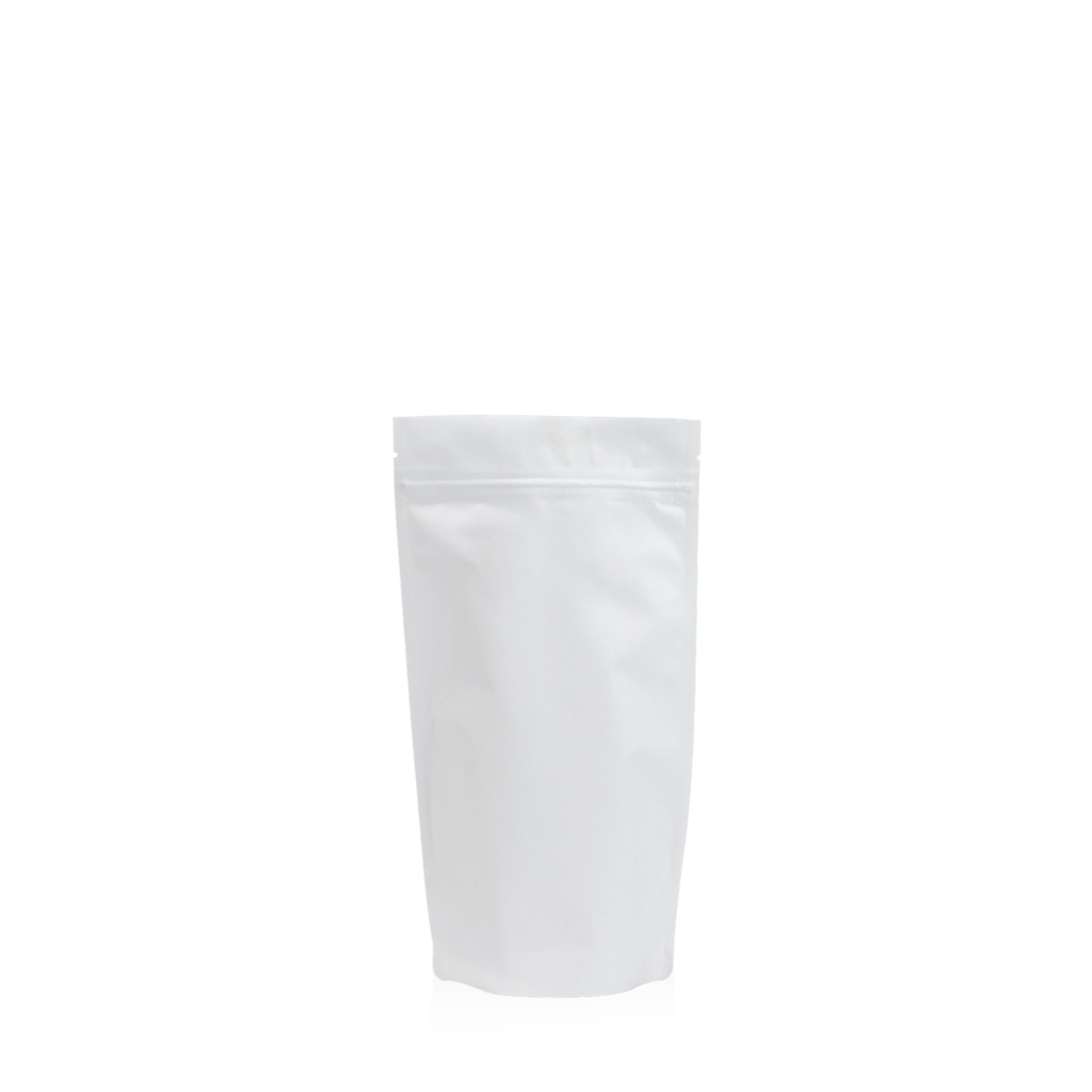 Lamizip Colour Stand Up Pouches 100 mm x 195 mm White