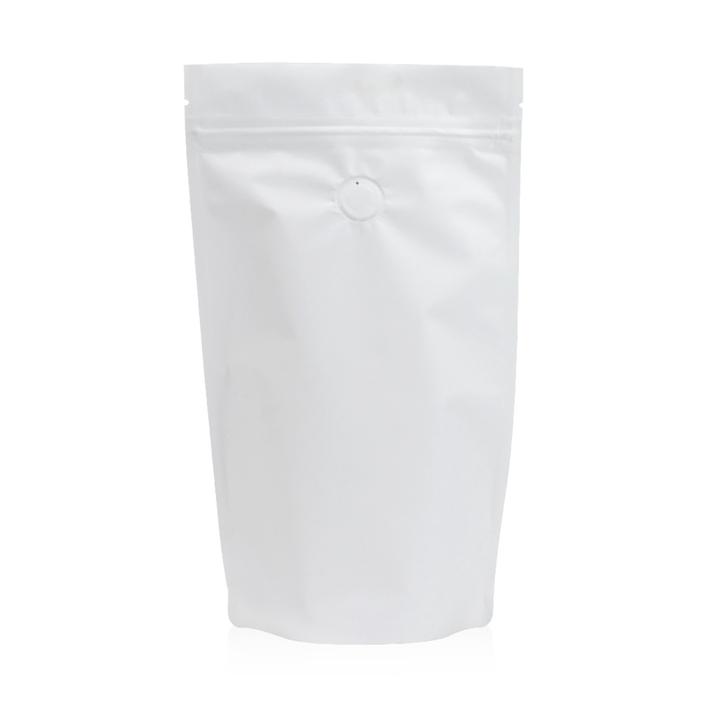 Lamizip Colour Stand Up Pouches 7.28 inch x 11.61 inch White