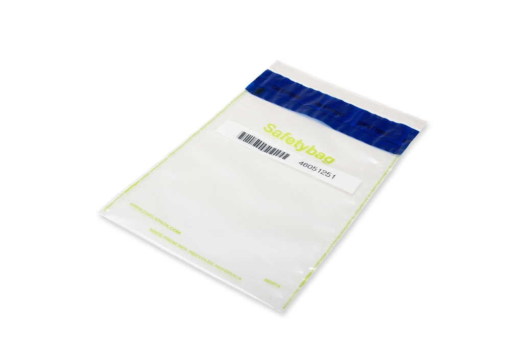 Safetybag Recycled 160 mm x 270 mm Transparent