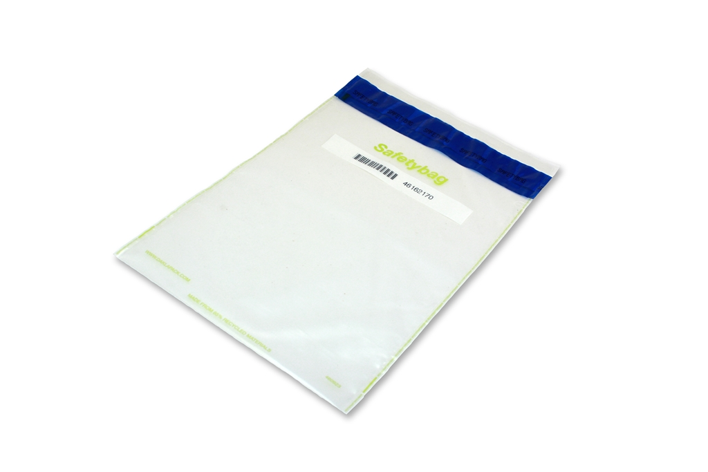 Safetybag Recycled 250 mm x 380 mm Transparent