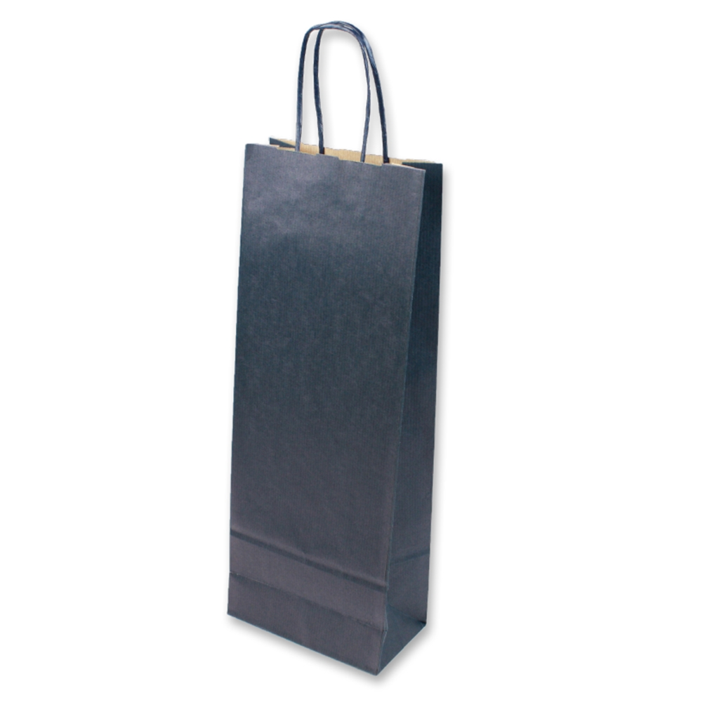 Paper Wine bag 150 mm x 400 mm Blauw