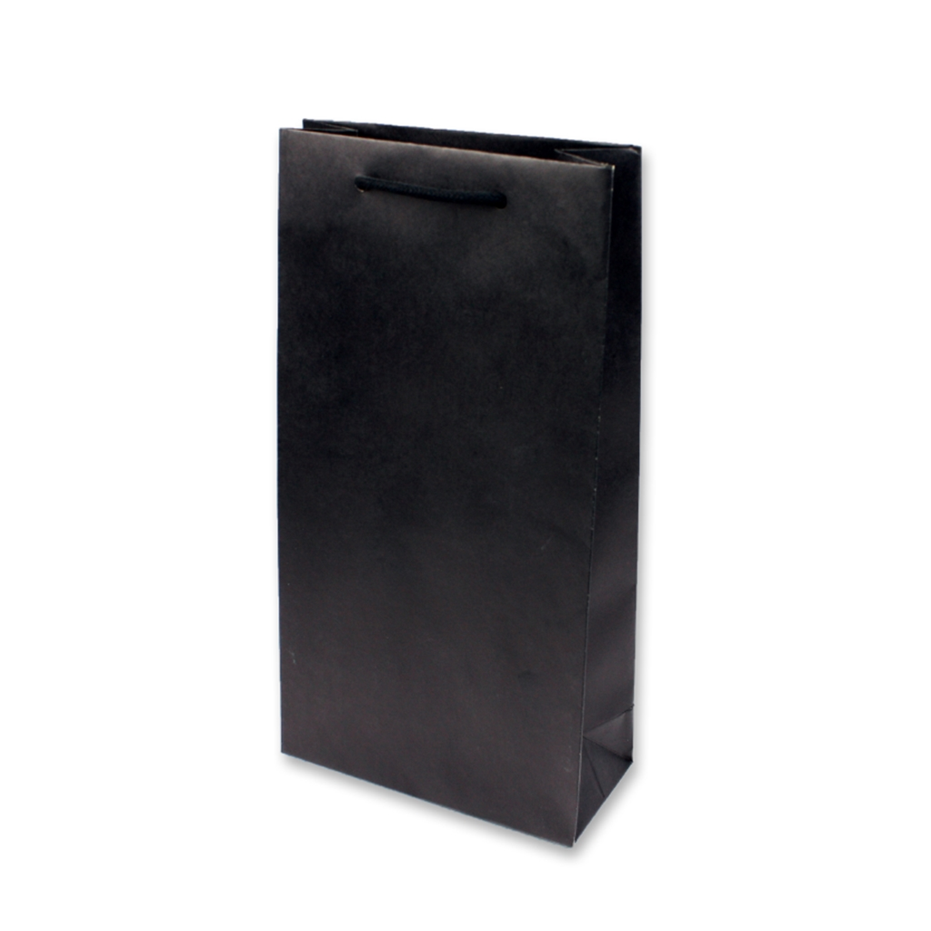 Paper Wine bag 200 mm x 380 mm Zwart