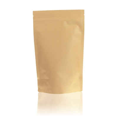 Lamizip Kraft Paper Stand Up Pouches 160 mm x 265 mm Brown